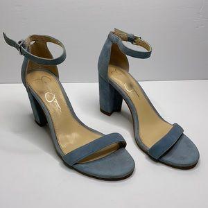 Jessica Simpson Monrae baby blue block sandal 6.5